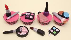 makeup cake toppers makeup cupcakes cake toppers cupcakes de maquillaje