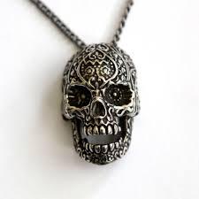 sugar skull ponytail holder silver sugar skull hair tie moon