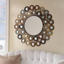 Decorative Mirrors For Living Room by Metallic Dots Mirror Decorative Mirrors Wall Decor And Living Rooms