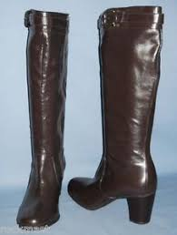 womens brown leather boots size 9 5829 womens brown 2 3 4 inch heel knee high boots size