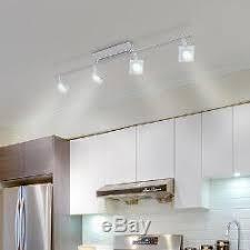 luminaire bureau plafond 4 spots sur rail lightcraft luminaire chrome verre 400lm 5w plafond