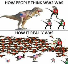 world war 2 as described by dinosaurs meme by the lurker