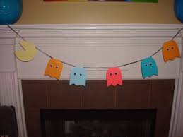 diy pac man and ghosts 80 u0027s decoration garland kate schmate