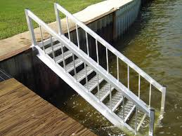 aluminum stairs lakeside dock service