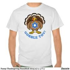 gobble tov hanukkah thanksgiving t shirt small black