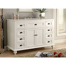 glennville 49 cottage bathroom vanity cabinet set in white