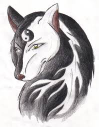 yin yang wolf by wafflemistress on deviantart