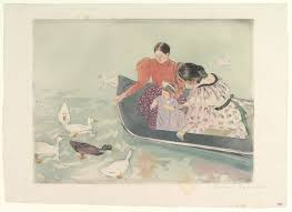 mary cassatt feeding the ducks the met