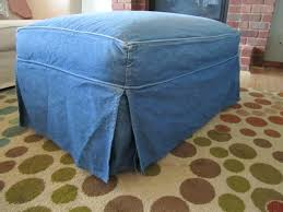 Matching Chair And Ottoman Slipcovers Matching Chair And Ottoman Slipcovers Denim Ottoman Slipcover