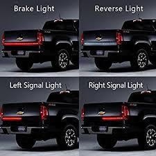 led brake lights for trucks amazon com winblink 60 inch auto tailgate light bar led tail light