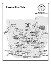 Map Of Napa Valley Russian River Valley Wine Road