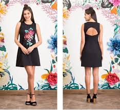 antix vestidos antix floral bordado vestidos casuais curtos femininos no