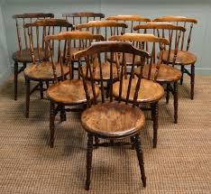 ten country u0027ibex u0027 antique kitchen chairs antiques world