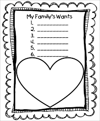 free worksheets for kindergarten on my family my free printable