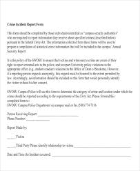 Computer Security Incident Report Template by 12 Sle Incident Report Free Sle Exle Format