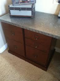 ballard designs tuscan brown with zinc top desk it is their 5