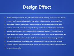 design effect in survey cluster sling the basics what are we trying to achieve in a