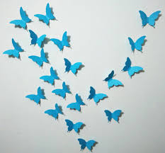 blue butterfly wall stickers interior design ideas