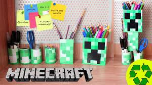 back to crafts minecraft desk organizer youtube