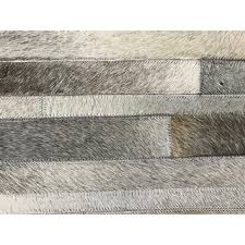 Bare Skin Rug Hand Stitched Grey Cow Hide Leather Rug 8 U0027 X 10 U0027 Free Shipping
