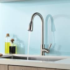 single kitchen sink faucet brushed nickel single handle kitchen sink faucet with pull