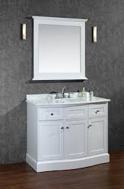ace montauk 42 inch single sink bathroom vanity set alpine white