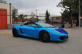 Lamborghini Gallardo Custom - lamborghini gallardo spyder avery blue chrome u2013 impressive wrap