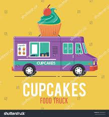 glitter truck cupcakes food truck stock vector 728665309 shutterstock