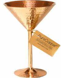 martini birthday card amazon com solid copper martini glass 100 copper beautifully