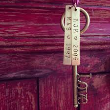 personalized home decor gifts custom housewarming gift love skeleton key letter u0026 date
