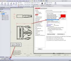 all drawing dimensions the wrong colour see if the solidworks