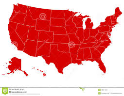 Map United State Of America by Map Of United States Of America Red Royalty Free Stock Image