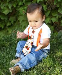 baby boy for thanksgiving gobble tie with suspenders