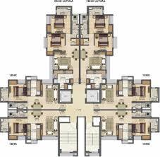 Typical Floor Plans Of Apartments Lodha Amara Kolshet Road Thane Thane U2013 Grv Realtors
