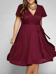 front tie swing surplice plus size dress swings wine and clothes
