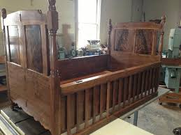 curly walnut reproduction baby crib youth bed by dvail12
