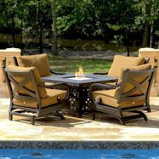 patio fire pit dining table design and ideas