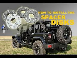 my jeep wrangler jk jeep wrangler jk how to install the spacer disks youtube