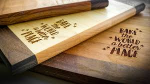 engraved cutting boards laser engraving custom cutting boards