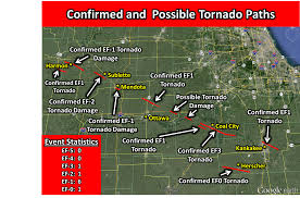 Map Of Downtown Chicago Il by Coal City Tornado Strongest In Chicago Metro Area In 25 Years