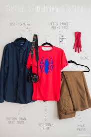 halloween spiderman costume simple diy peter parker spiderman costume h o l i d a y