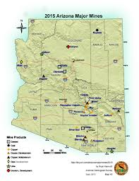 University Of Arizona Map Mining In Arizona Azgs