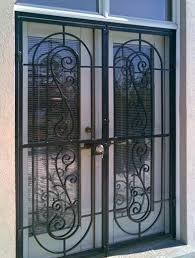 wrought iron patio doors patio door security gates madrid style