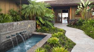 ideas 13 beautiful backyard with round stoned pond also black