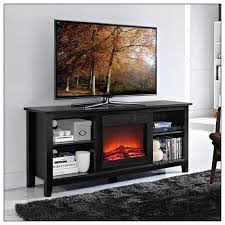 Black Electric Fireplace Walker Edison Tv Console With Electric Fireplace For Most Flat