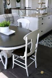 painted kitchen furniture farmhouse style painted kitchen table and chairs makeover painted