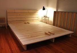 Platform King Size Bed Frame Bedroom Build Your Own King Size Bed Frame California King