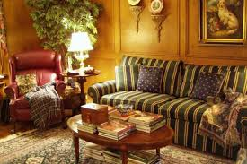 english country style living room and powder room in english country style country style