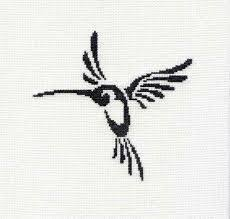 tribal tattoo unframed swallow cross stitch final clearance sale
