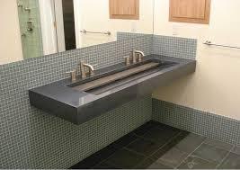 modern trough sink trough double basin nativestoneâ bathroom